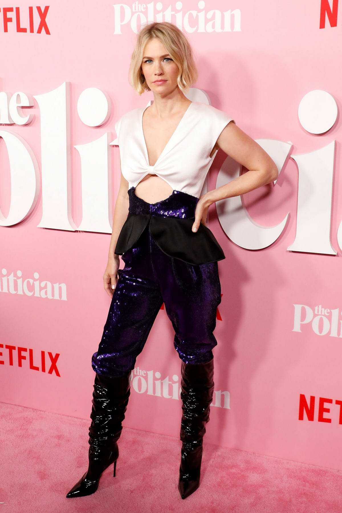 January Jones Attends 'The Politician' Premiere At The DGA