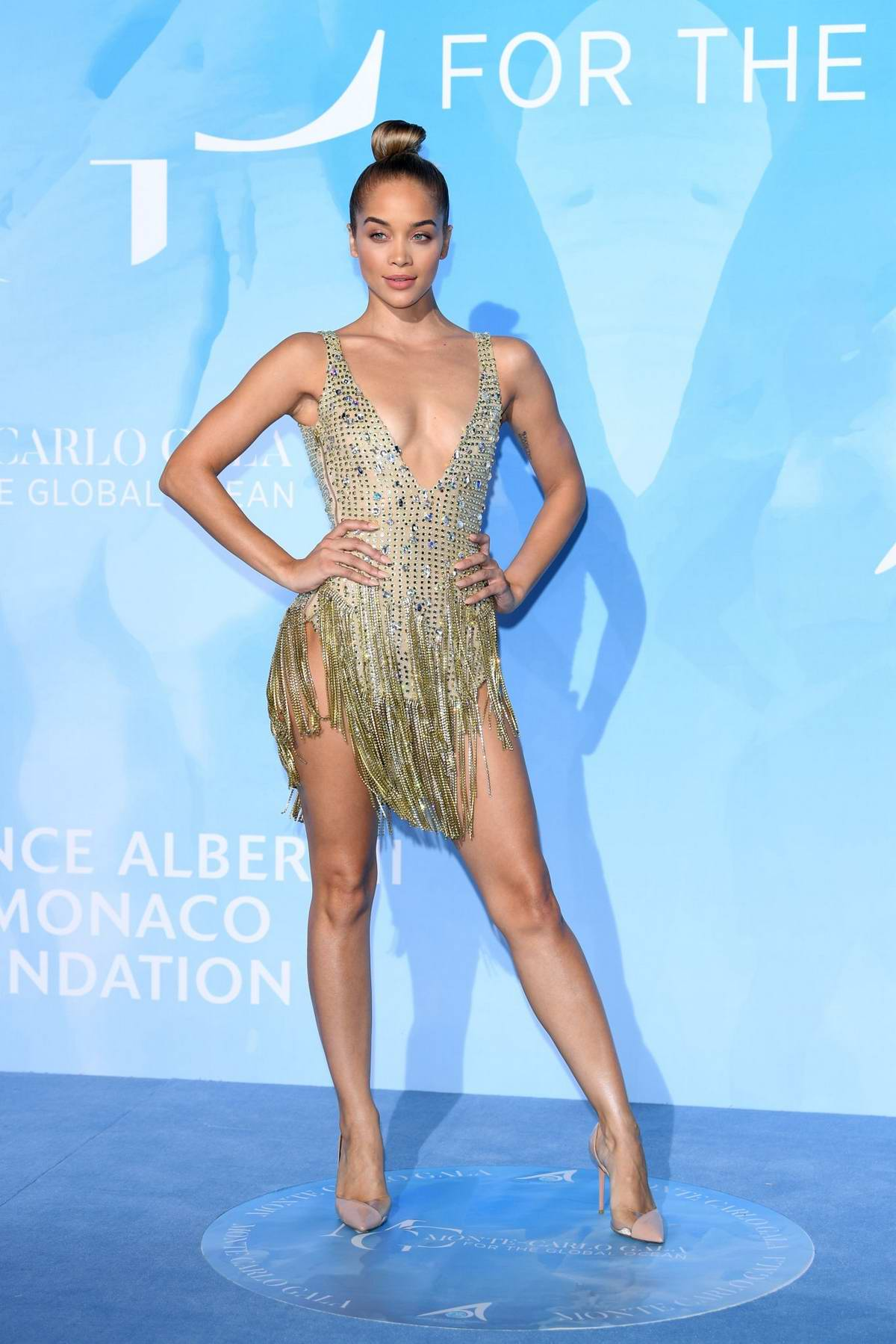 Jasmine Sanders attends the Gala for the Global Ocean in Monte Carlo, Monaco