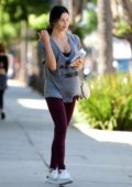 Jenna Dewan looks great without make-up as she leaves gym in Los Angeles