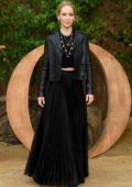 Jennifer Lawrence attends Christian Dior show, Womenswear SS 2020 during Paris Fashion Week in Paris, France