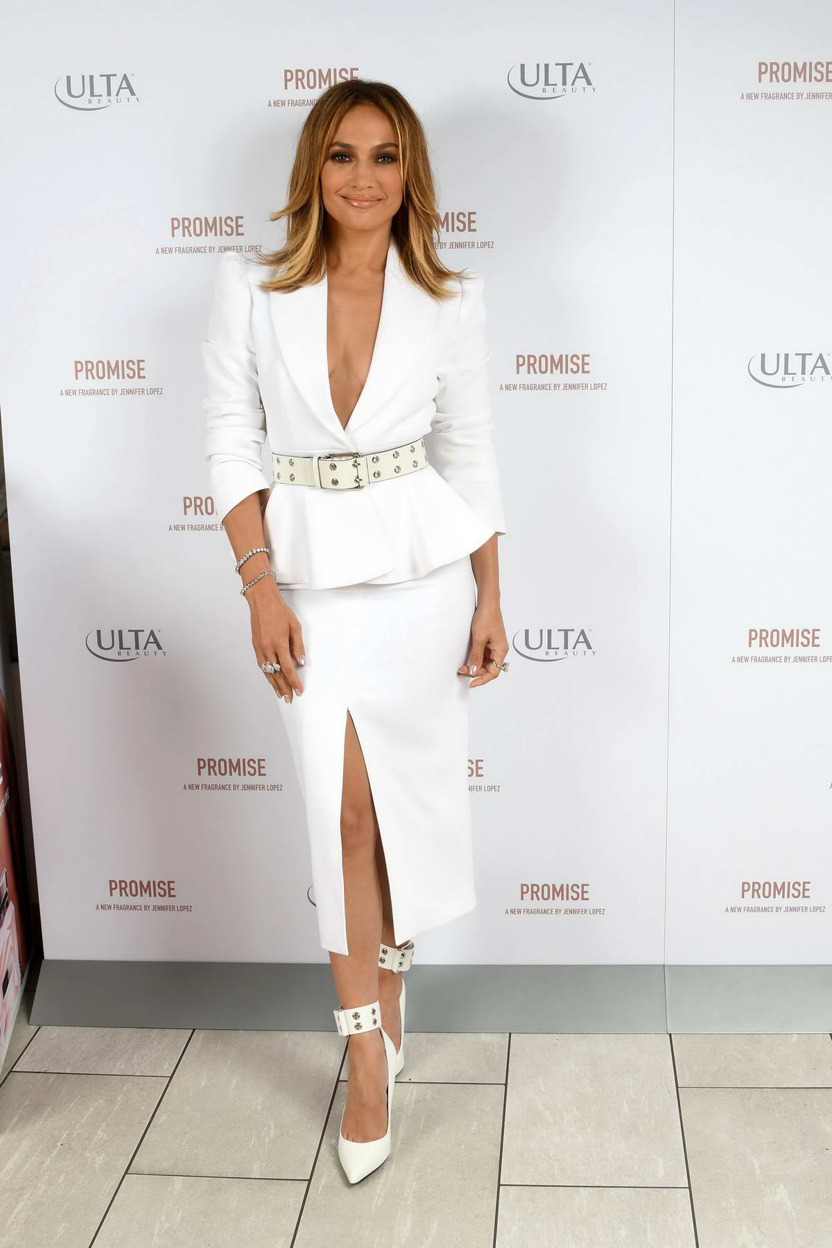 Jennifer Lopez attends the launch of her perfume 'Promise' at Ulta Beauty in New York City