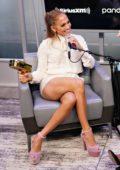 Jennifer Lopez visits the SiriusXM Studios in New York City
