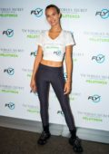 Josephine Skriver attends 'Angel Cycle' at Flywheel Sports in New York City