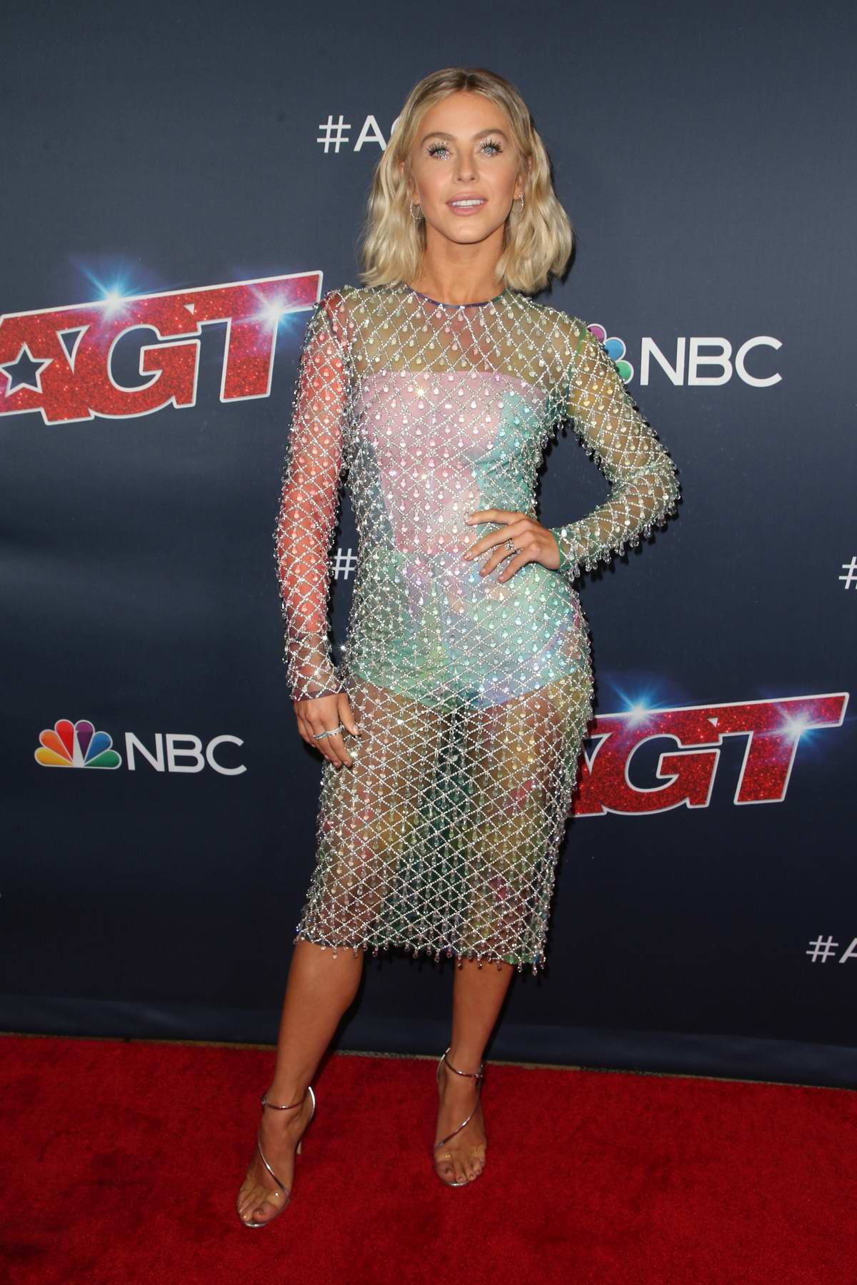 Julianne Hough attends the 'America's Got Talent' Season 14 Live Show Red Carpet in Hollywood, California