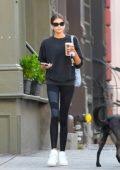 Kaia Gerber sports an all-black look as she steps out for stroll on her 18th birthday in SoHo, New York City