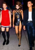 Kaia Gerber stuns in Versace leather dress while celebrating her 18th Birthday party at The Edition Hotel in New York City