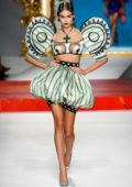 Kaia Gerber walks the runway at the Moschino show during Milan Fashion Week, Spring/Summer 2020 in Milan, Italy