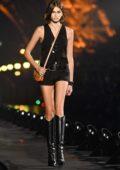 Kaia Gerber walks the runway at the Saint Laurent Womenswear SS 2020 Show during Paris Fashion Week in Paris, France