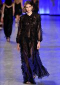 Kaia Gerber walks the runway for the Alberta Ferretti show S/S 2020 during Milan Fashion Week in Milan, Italy