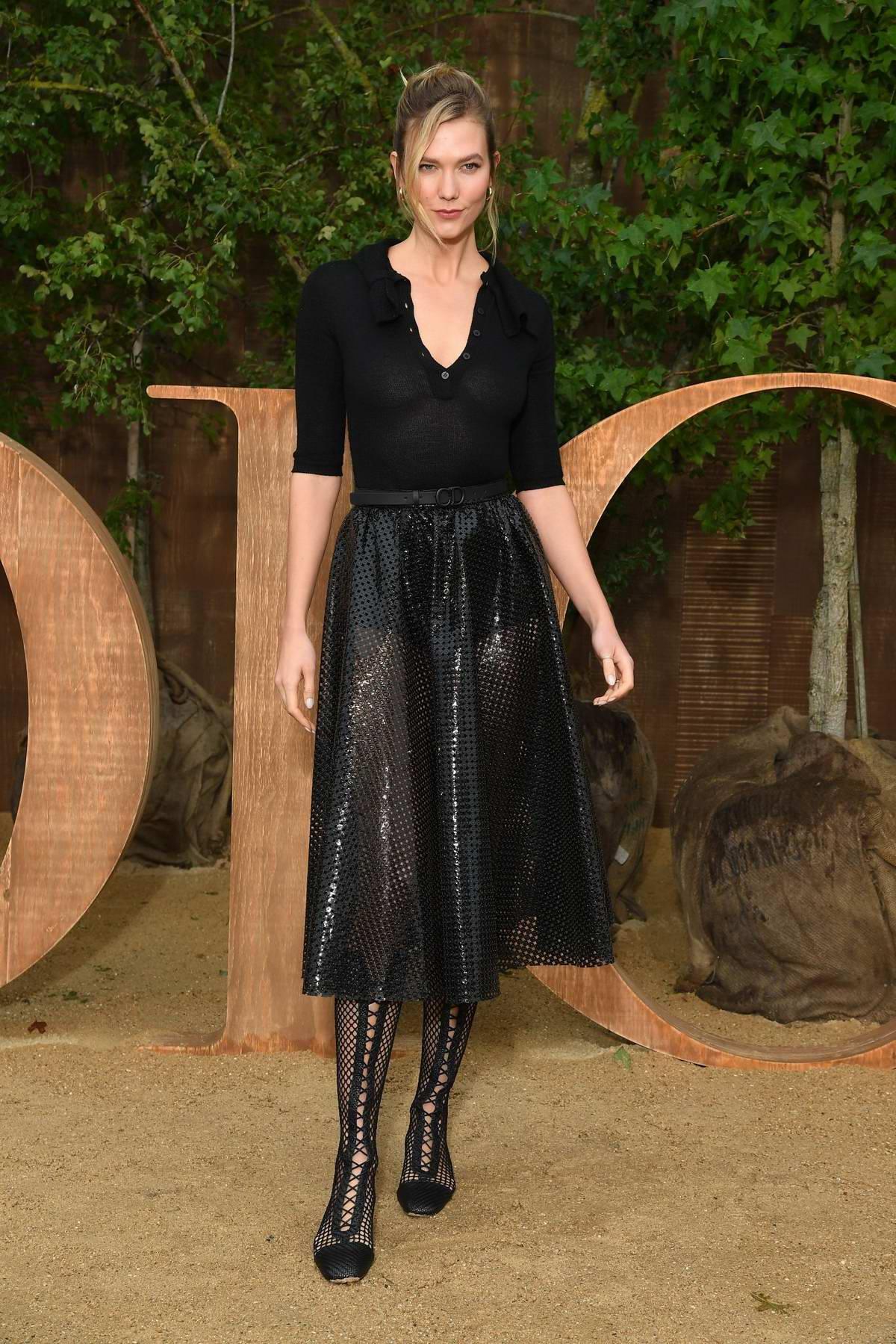 Karlie Kloss attends Christian Dior show, Womenswear SS 2020 during Paris Fashion Week in Paris, France