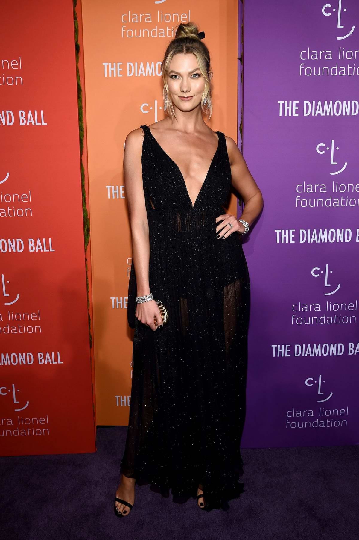 Karlie Kloss attends the 5th annual Diamond Ball at Cipriani Wall Street in New York City
