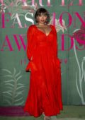 Kat Graham attends The Green Carpet Fashion Awards 2019 in Milan, Italy