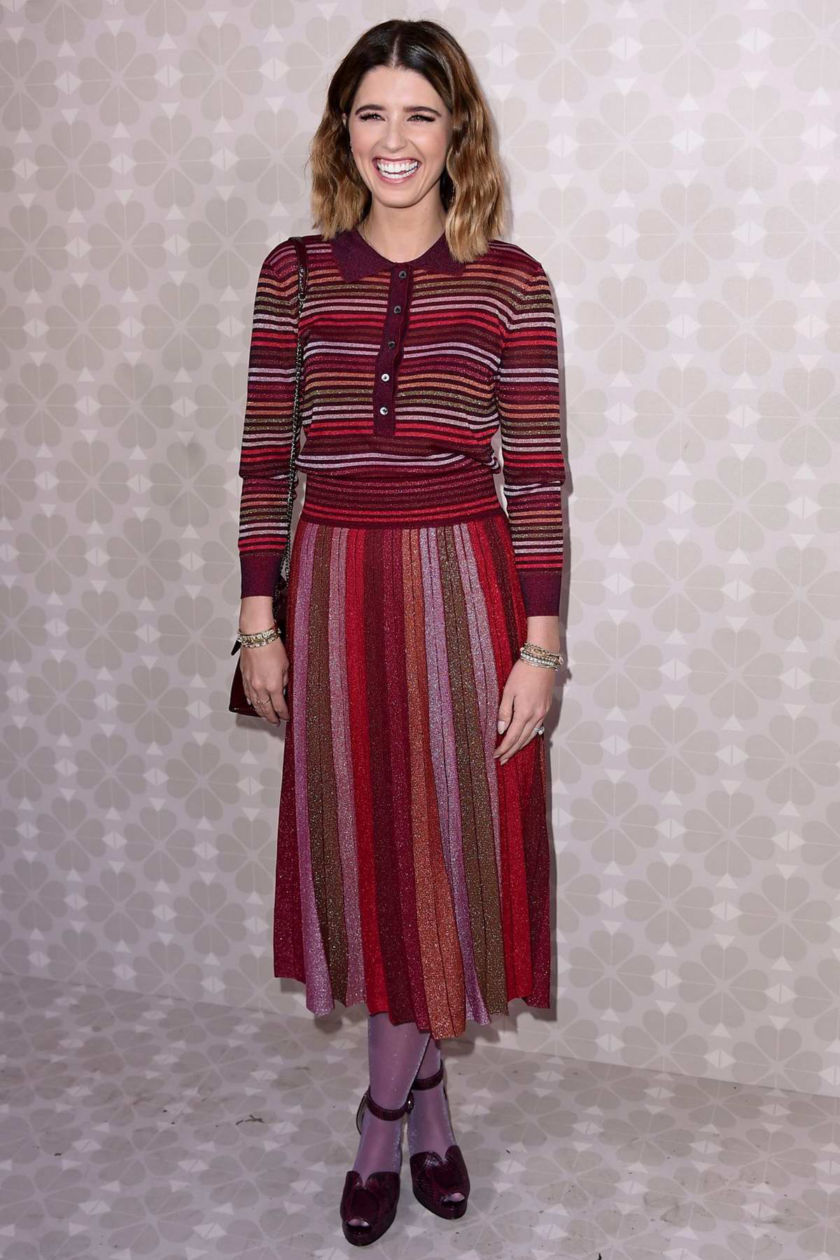 Katherine Schwarzenegger attends Kate Spade Fashion Show during New York Fashion Week in New York City