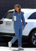Katherine Schwarzenegger is all smiles as she visits a Pet Adoption Animal Shelter donning a denim jumpsuit in Los Angeles