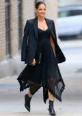 Katie Holmes is all prepped for a fashionable event at Zimmermann in New York City