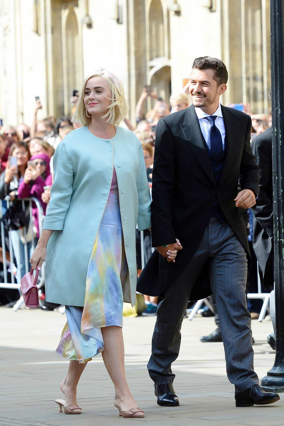 Katy Perry and Orlando Bloom attend the wedding of Ellie Goulding and Caspar Jopling at York Minster Cathedral in London, UK