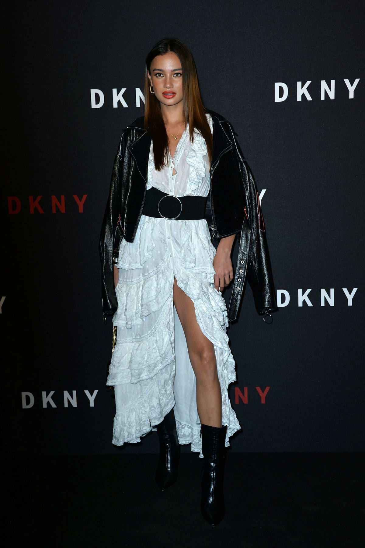 Kelsey Merritt attends DKNY 30th birthday party during New York Fashion Week in New York City