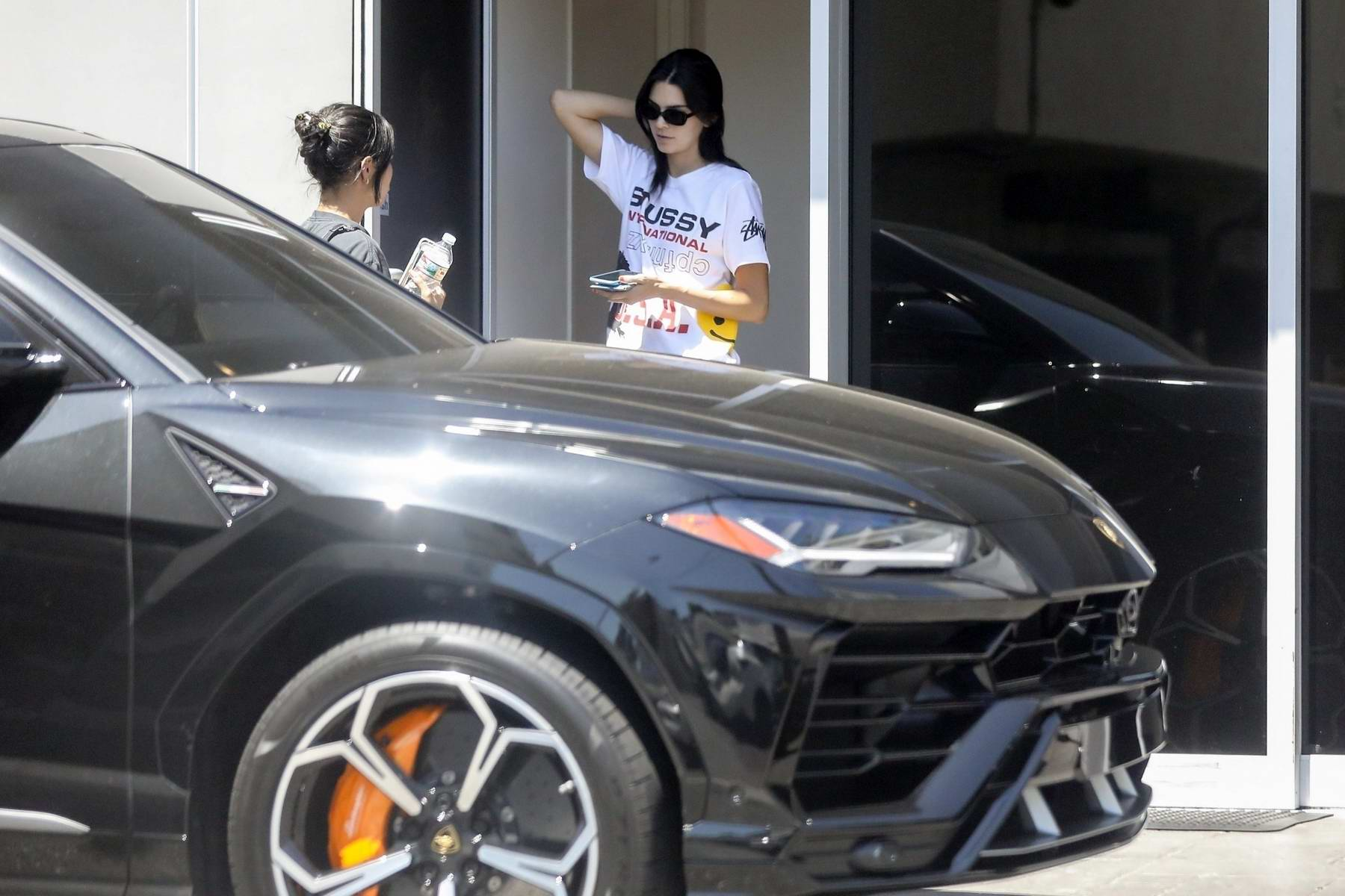 Kendall Jenner Keeps It Casual While She Brings Her Ferrari In For A Service At The Ferrari Dealer In Beverly Hills Los Angeles 030919 4