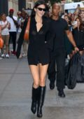 Kendall Jenner looks incredible in a sheer black dress as she leaves the Balenciaga store in New York City