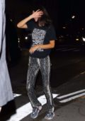 Kendall Jenner tries to avoid the camera while out after dinner at Carbone with Kelly Oubre Jr in New York City