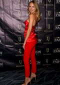 Kimberley Garner attends the World Fashion Awards 2019 at The Savoy Hotel in London, UK