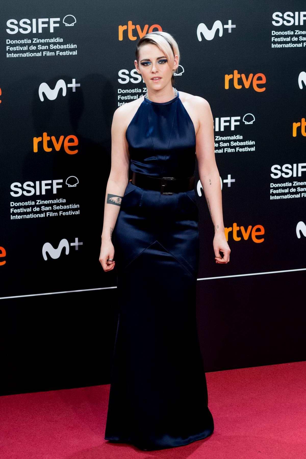 Kristen Stewart attends 'Blackbird' Premiere during 67th San Sebastian International Film Festival in San Sebastian, Spain