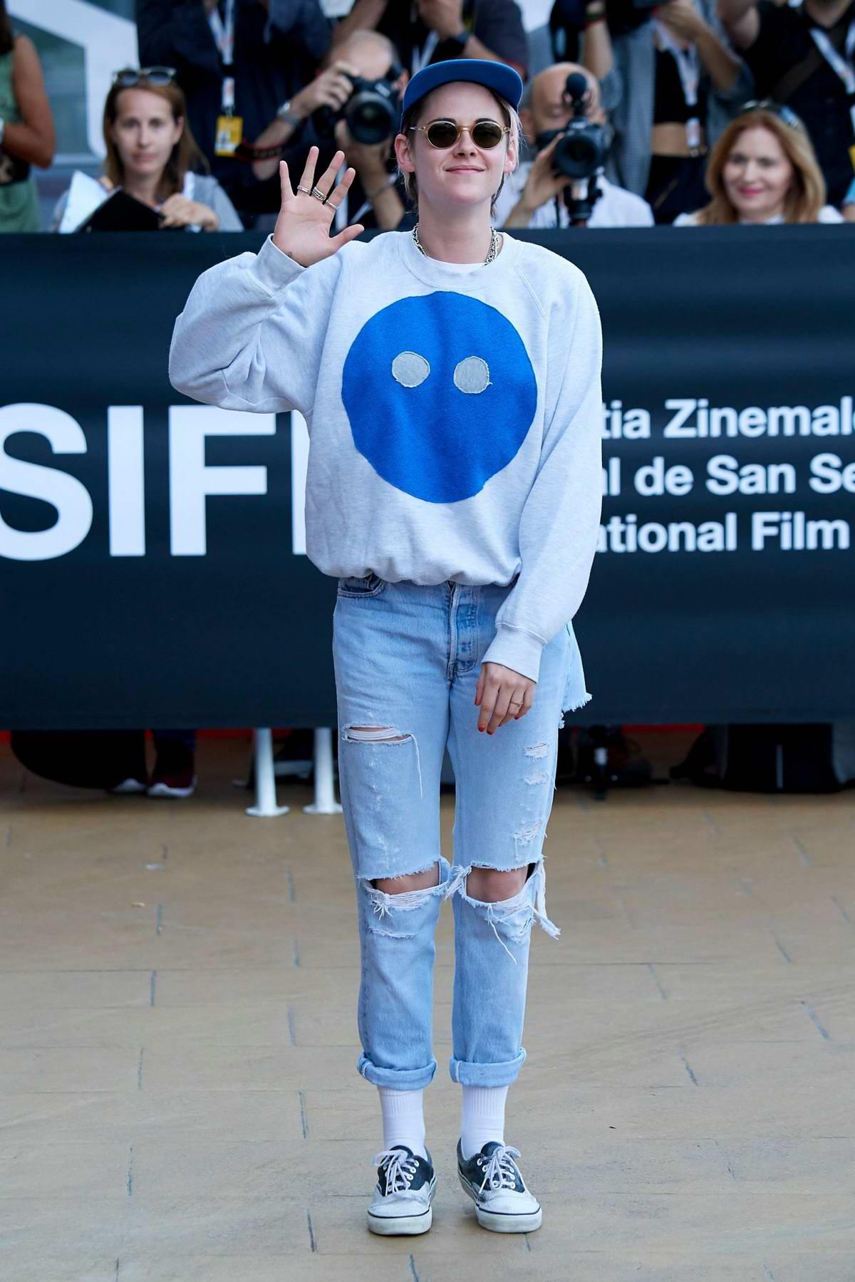 Kristen Stewart attends the 67th San Sebastian International Film Festival Previews in San Sebastian, Spain