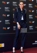 Kristen Stewart attends the premiere of 'Seberg' during the 67th San Sebastian International Film Festival, Spain