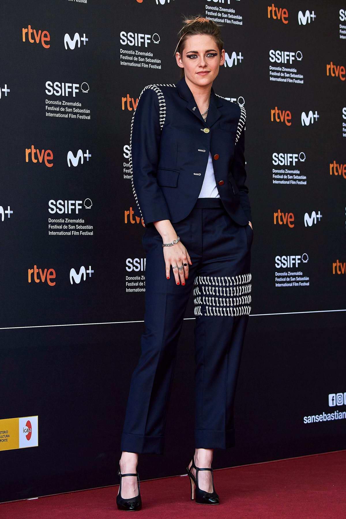 Kristen Stewart attends the premiere of 'Seberg' during the 67th San Sebastian International Film Festival, Spain