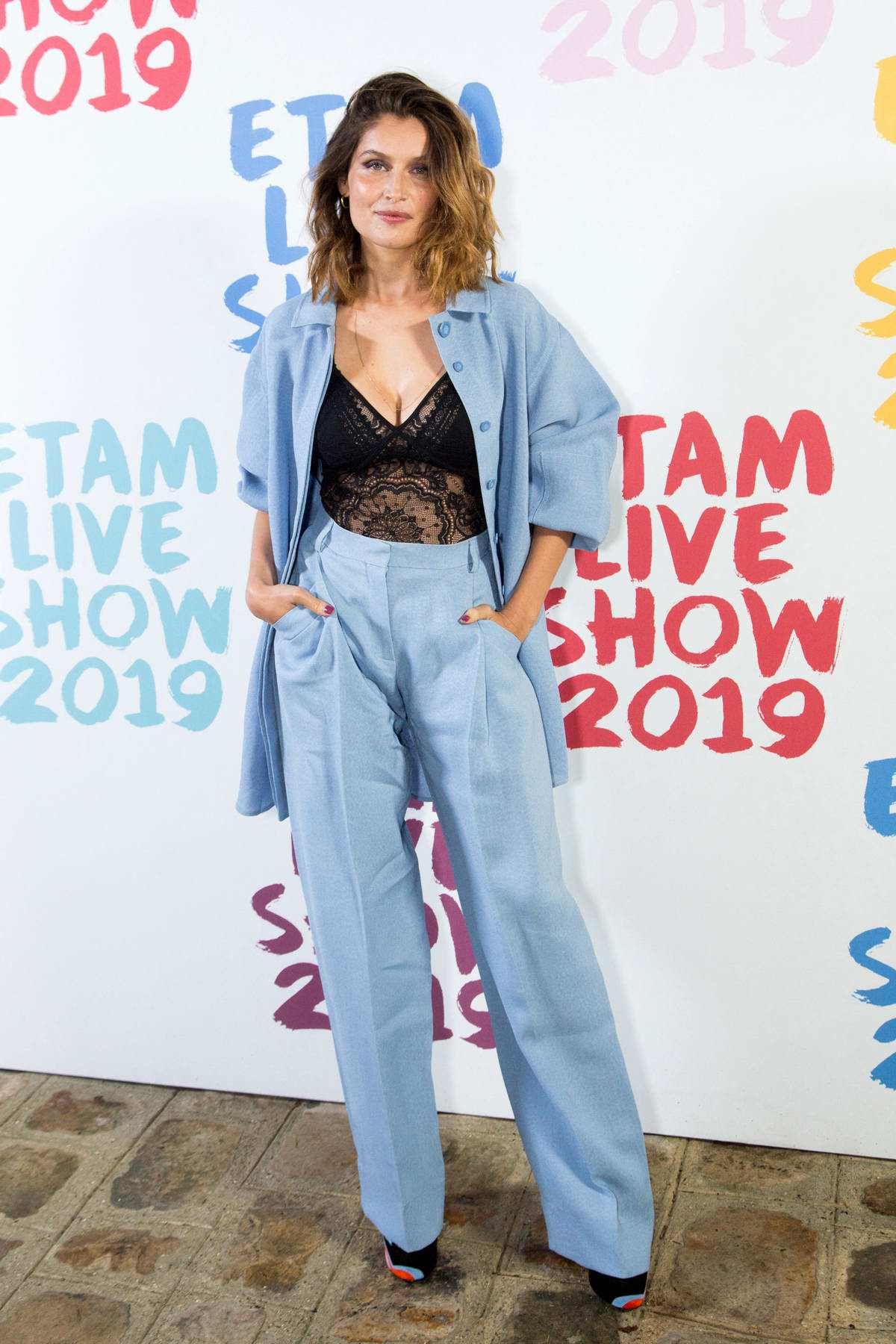 Laetitia Casta attends the Etam Live show 2019 during Paris Fashion Week, Spring/Summer 2020 in Paris, France