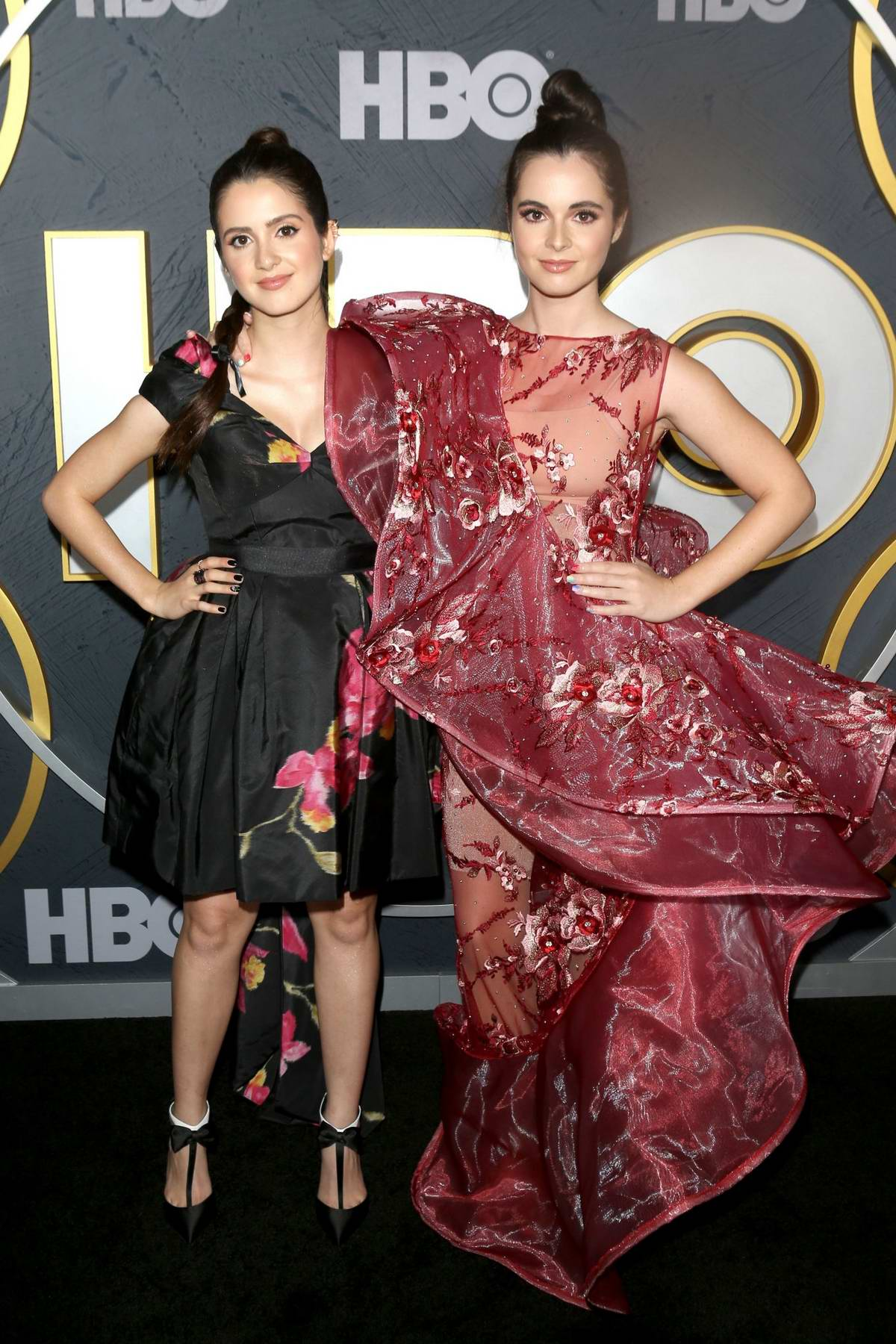 Laura and Vanessa Marano attend the 2019 HBO Emmy Awards After-Party at The Pacific Design Center in Los Angeles