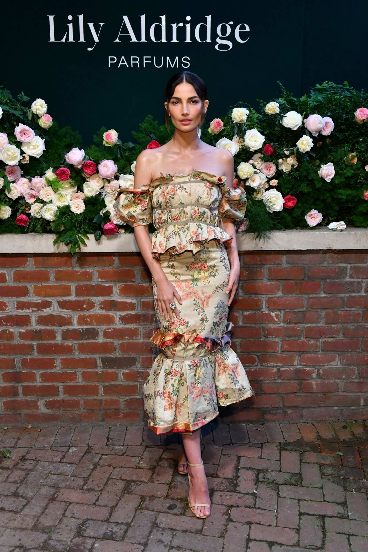 Lily Aldridge attends her 'Lily Aldridge Parfums' launch event at The Bowery Terrace in New York City