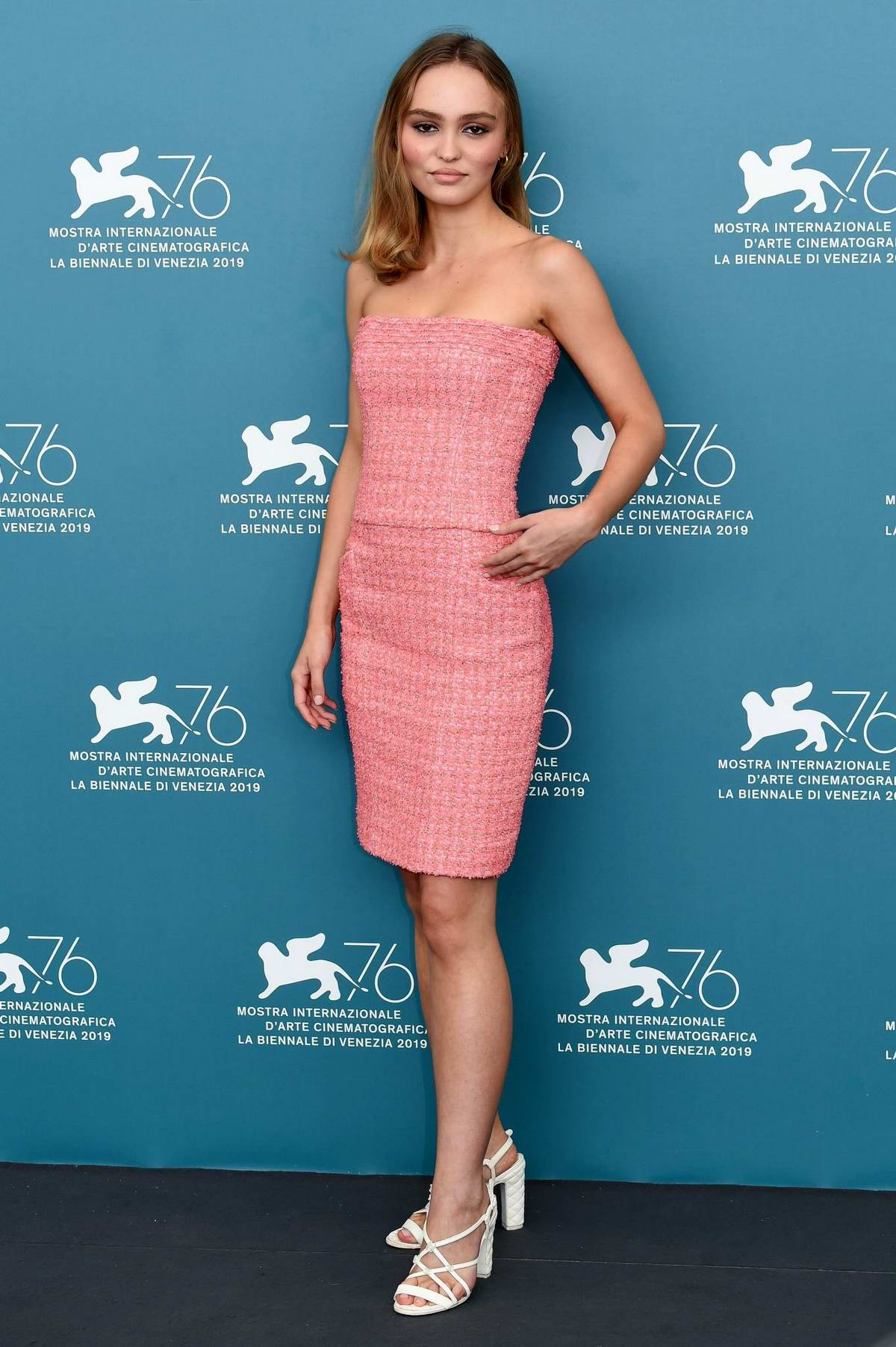 Lily-Rose Depp attends 'The King' Photocall during the 76th Venice Film Festival in Venice, Italy