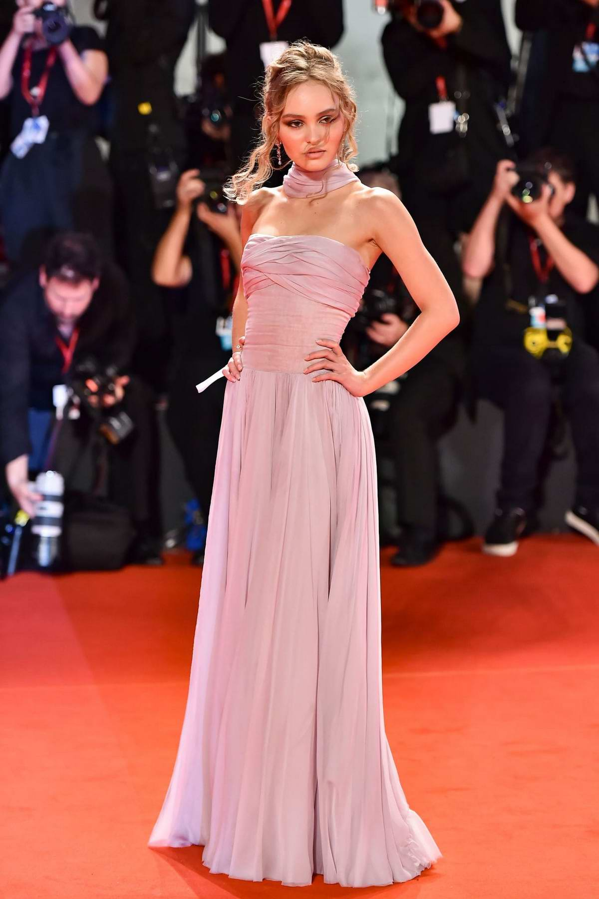 Lily-Rose Depp attends 'The King' Screening during the 76th Venice Film Festival at Sala Grande in Venice, Italy