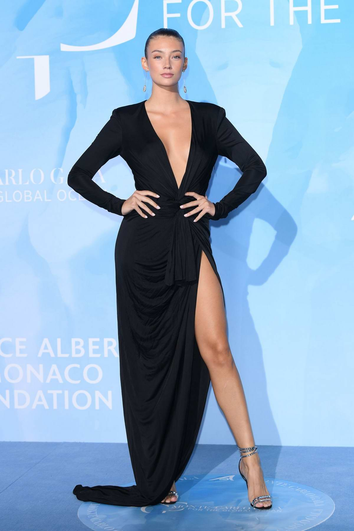 Lorena Rae attends the Gala for the Global Ocean in Monte Carlo, Monaco