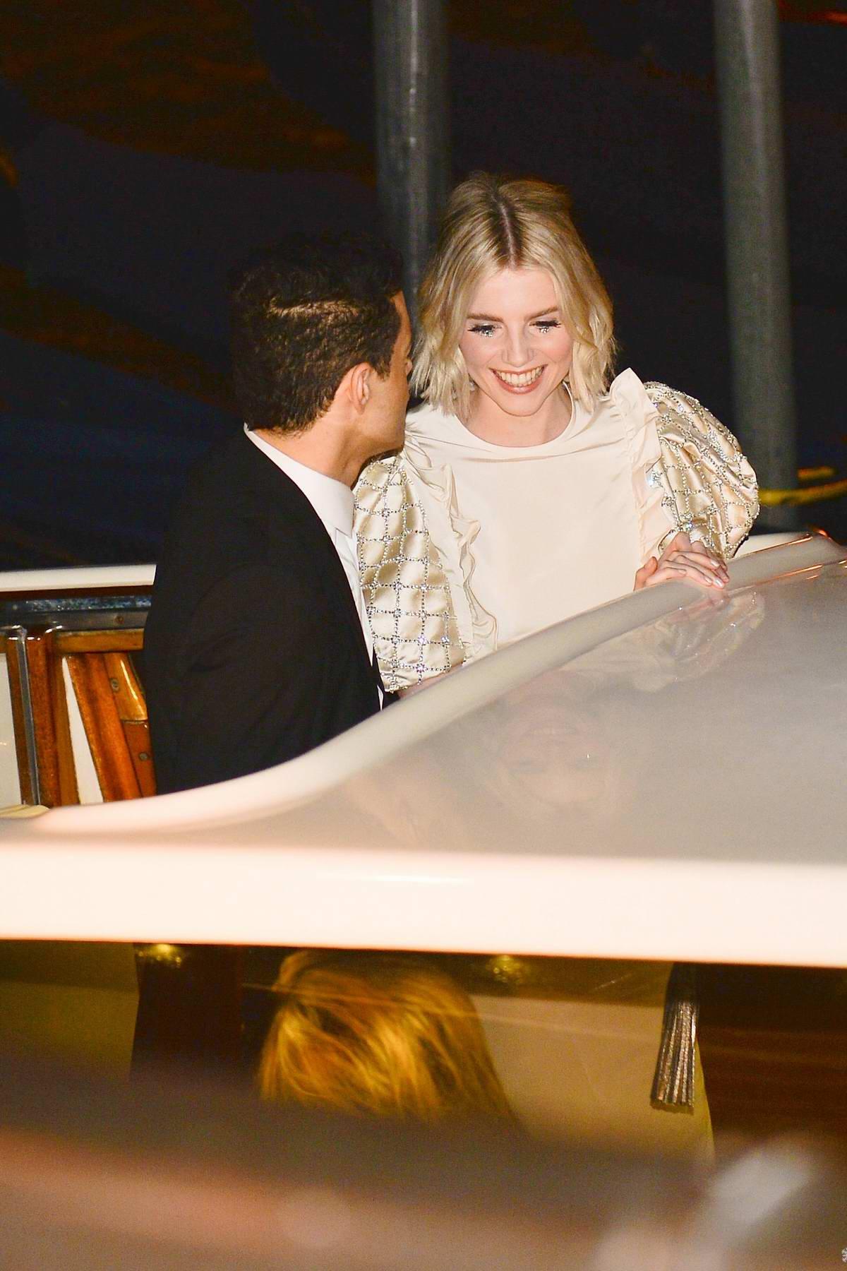 Lucy Boynton and Rami Malek enjoy a romantic dinner date in Venice, Italy