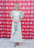 Lucy Boynton attends the Miu Miu Photocall during the 76th Venice Film Festival at Sala Volpi in Venice, Italy