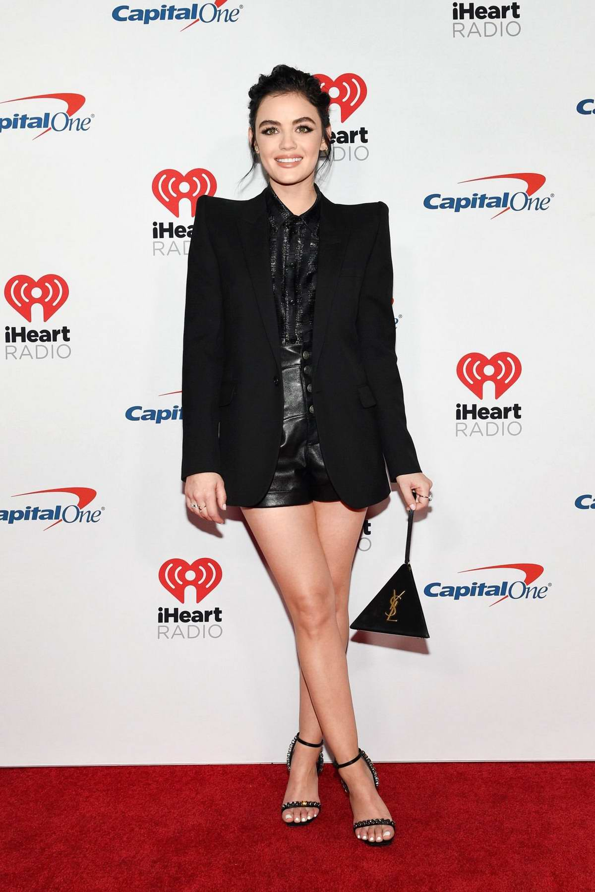 Lucy Hale attends the 2019 iHeartRadio Music Festival at T-Mobile Arena in Las Vegas, Nevada