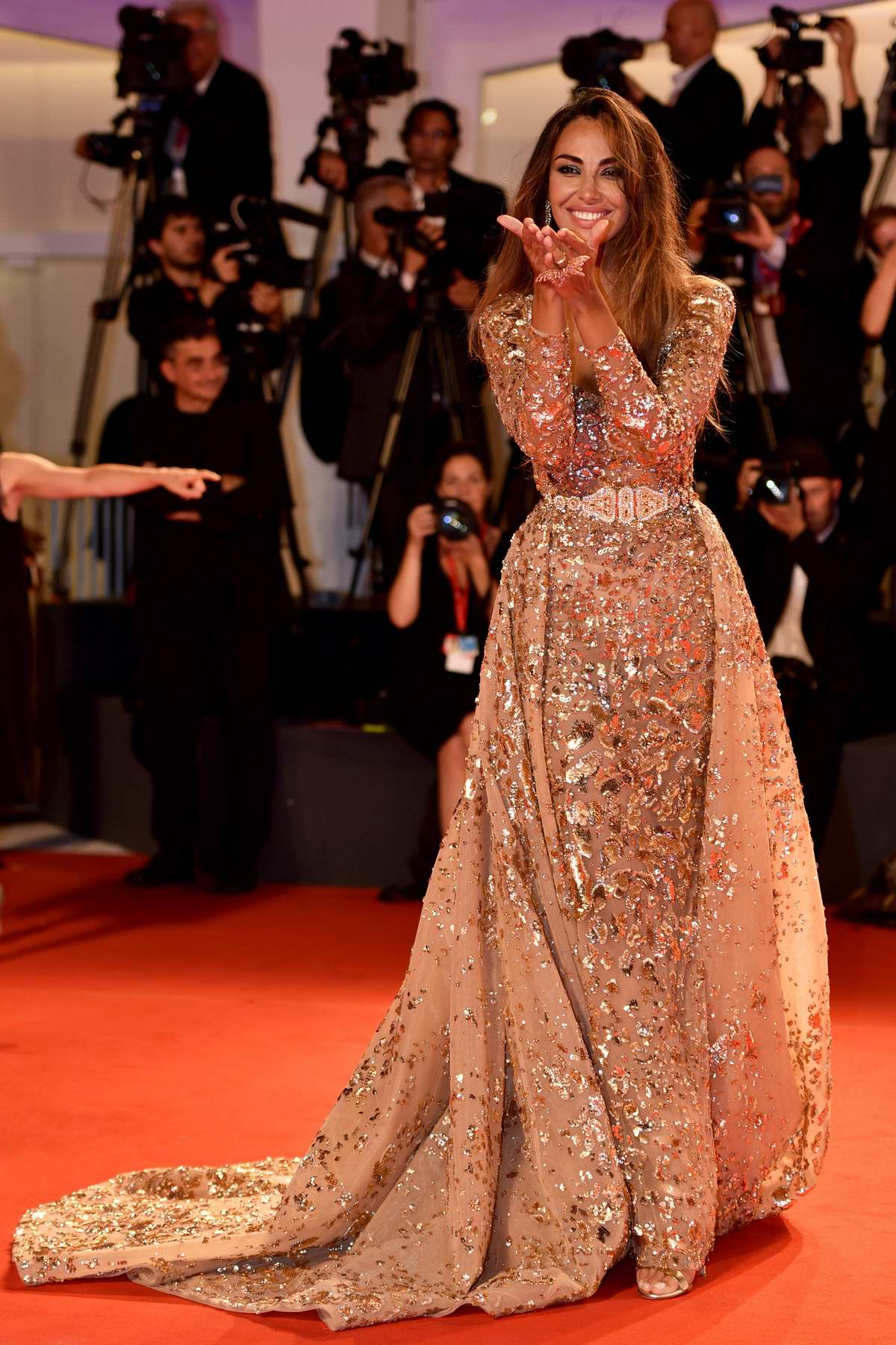 Madalina Ghenea attends 'Ad Astra' screening during during the 76th Venice Film Festival at Sala Grande in Venice, Italy