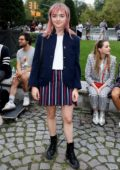 Maisie Williams attends Thom Browne 'The Officepeople' performance installation, SS 2020 during NYFW in New York City