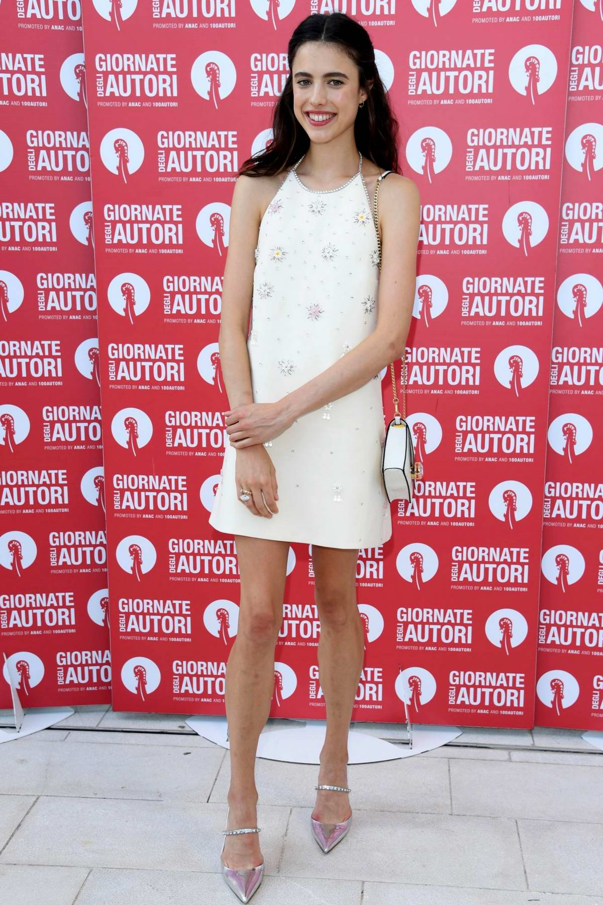 Margaret Qualley attends the Miu Miu Photocall during the 76th Venice Film Festival at Sala Volpi in Venice, Italy