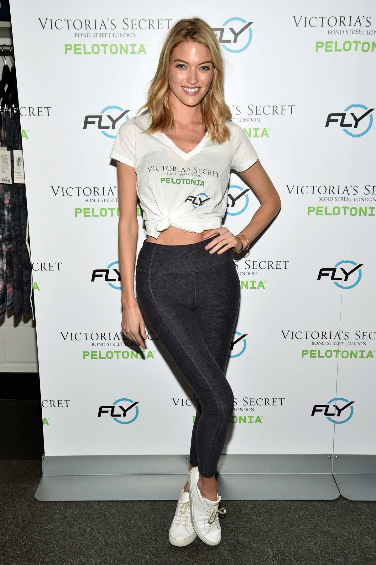 Martha Hunt attends 'Angel Cycle' at Flywheel Sports in New York City