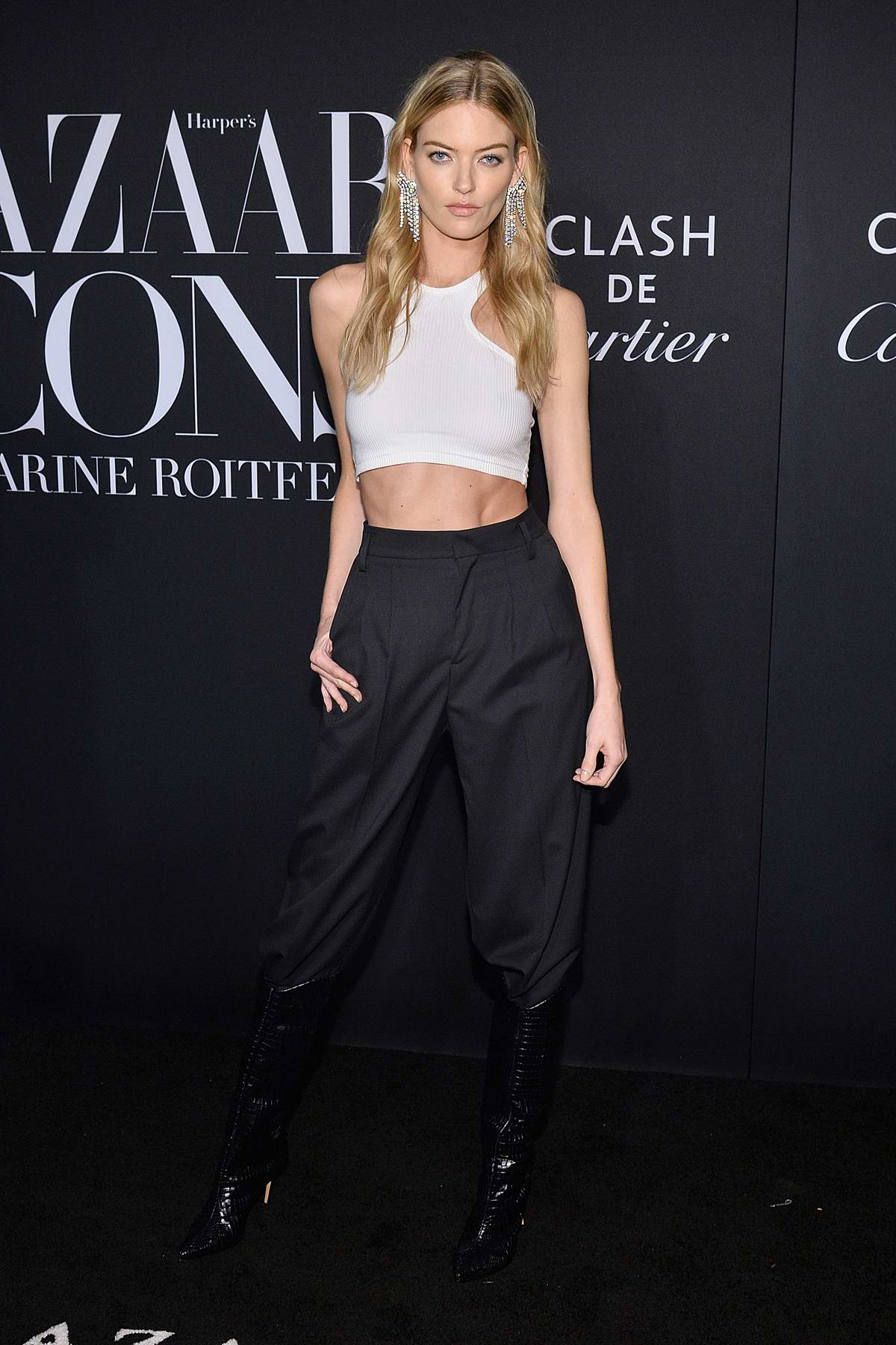 Martha Hunt attends the 2019 Harper's Bazaar ICONS Party at The Plaza Hotel in New York City