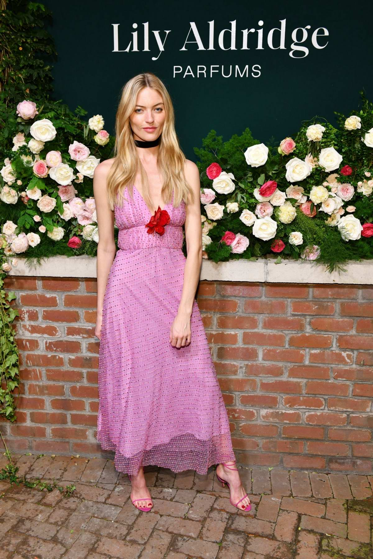 Martha Hunt attends the 'Lily Aldridge parfums' launch event at The Bowery Terrace in New York City