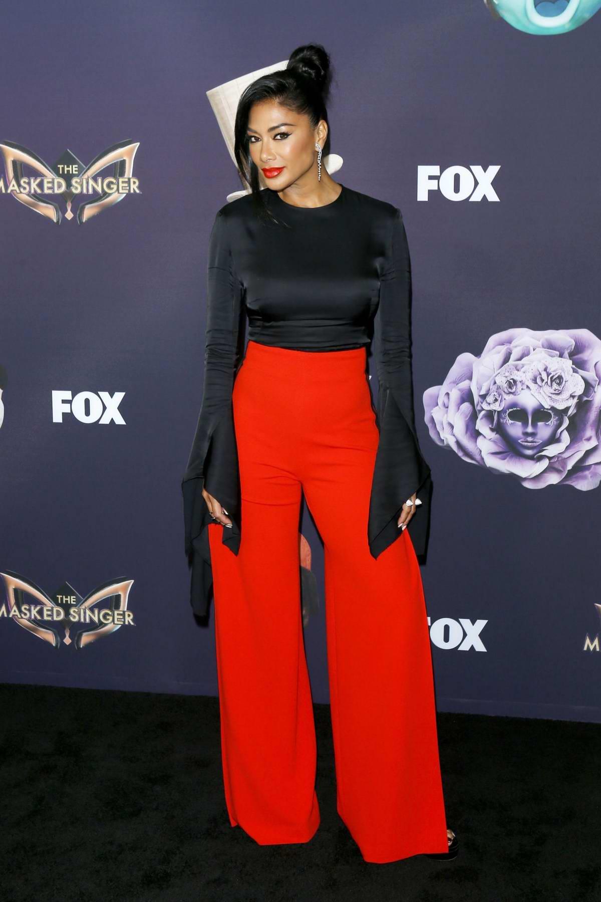 Nicole Scherzinger attends the premiere of Fox's 'The Masked Singer' Season 2 in Los Angeles