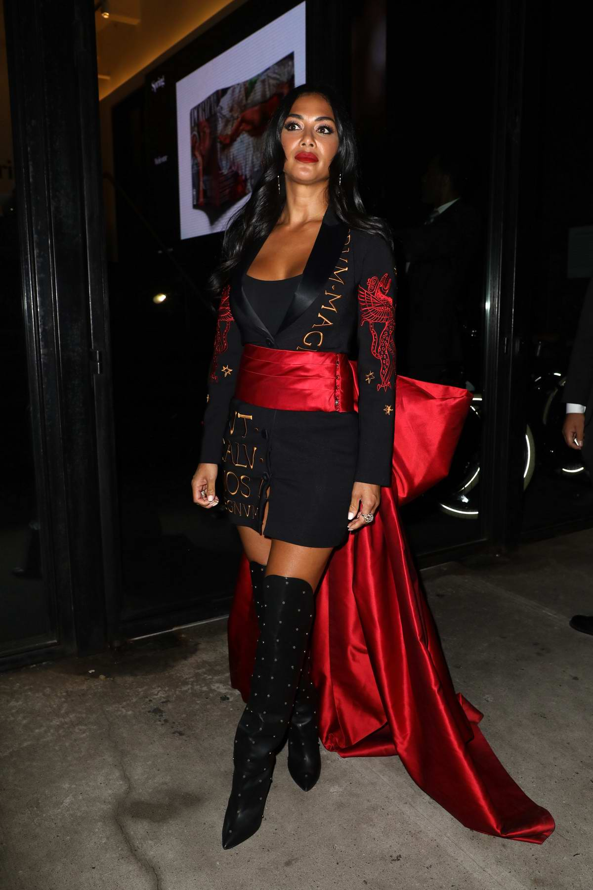 Nicole Scherzinger seen leaving the Jeremy Scott show during New York Fashion Week in New York City