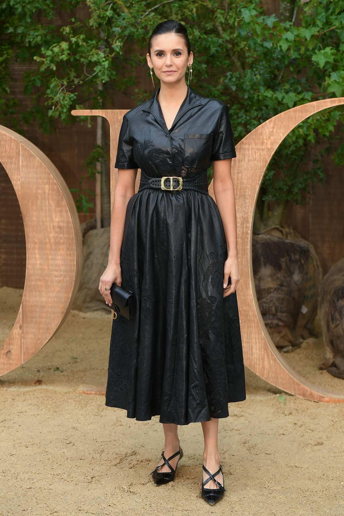 Nina Dobrev attends Christian Dior show, Womenswear SS 2020 during Paris Fashion Week in Paris, France