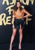 Niomi Smart attends the Fashion For Relief, Spring/Summer 2020 during London Fashion Week in London, UK