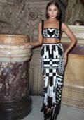 Olivia Culpo attends the Balmain Womenswear Spring/Summer 2020 during Paris Fashion Week in Paris, France