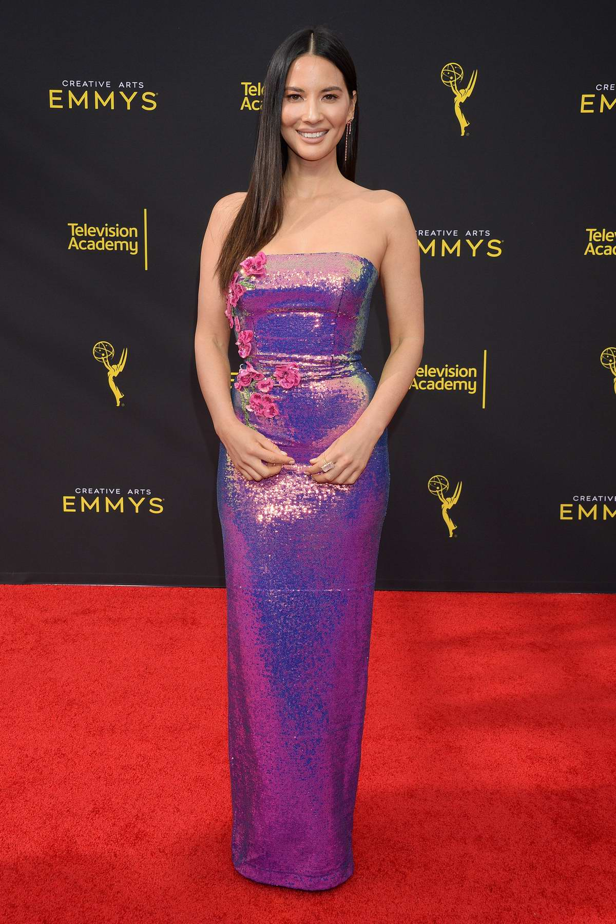 Olivia Munn attends the 71st Annual Primetime Creative Arts Emmy Awards, Day 2 at Microsoft Theater in Los Angeles